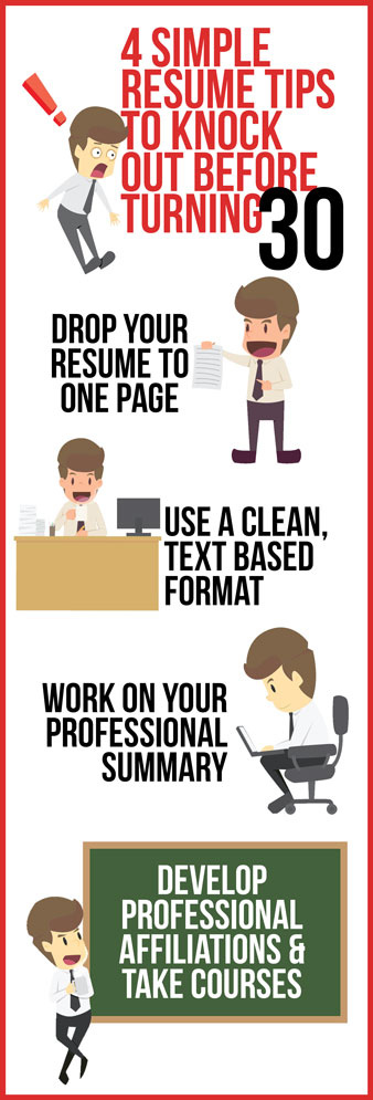 Resume design and tips to knock out before turning 30
