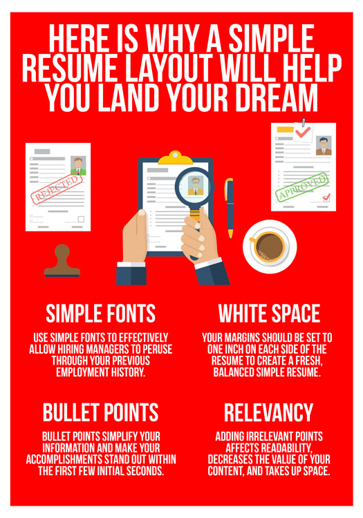 here is why a simple resume layout will help you land your dream